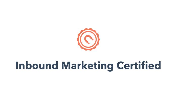 Inbound marketing cert